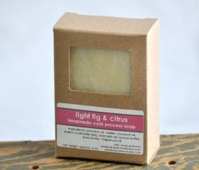 Cold Process Soap - Light Fig & Citrus