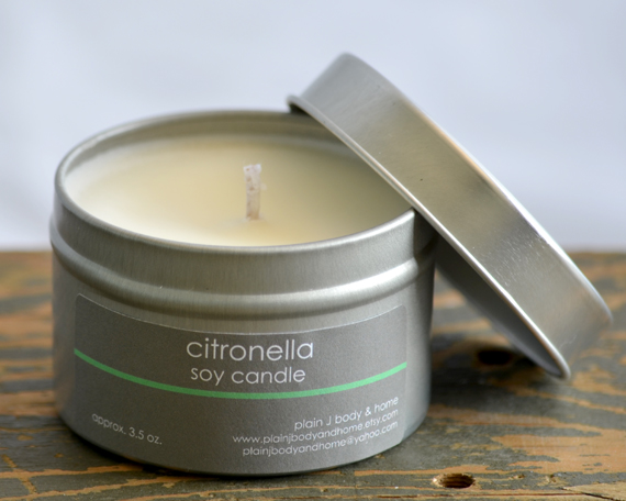 Soy Candle Tin 4 oz - Citronella